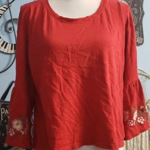 Hollister Red Long Sleeve Top sz S, Thrifted